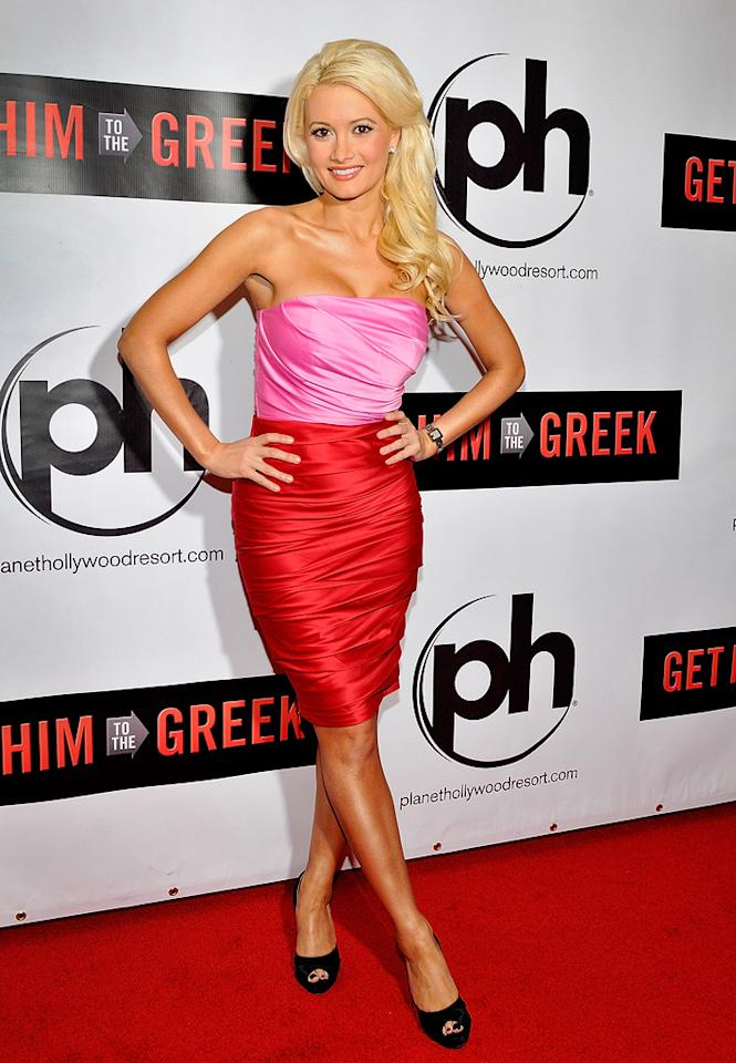 """<a href=""""http://movies.yahoo.com/movie/contributor/1809565943"""">Holly Madison</a> at the Las Vegas screening of <a href=""""http://movies.yahoo.com/movie/1810081179/info"""">Get Him to the Greek</a> - 05/20/2010"""
