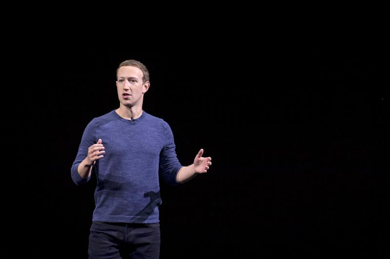 Mark Zuckerberg, chief executive officer and co-founder of Facebook Inc., speaks during the Oculus Connect 5 product launch event in San Jose, California, U.S., on Wednesday, Sept. 26, 2018. Facebook unveiled a wireless virtual-reality headset called Oculus Quest, an attempt to help popularize the developing technology with a more mainstream audience. Photographer: David Paul Morris/Bloomberg via Getty Images