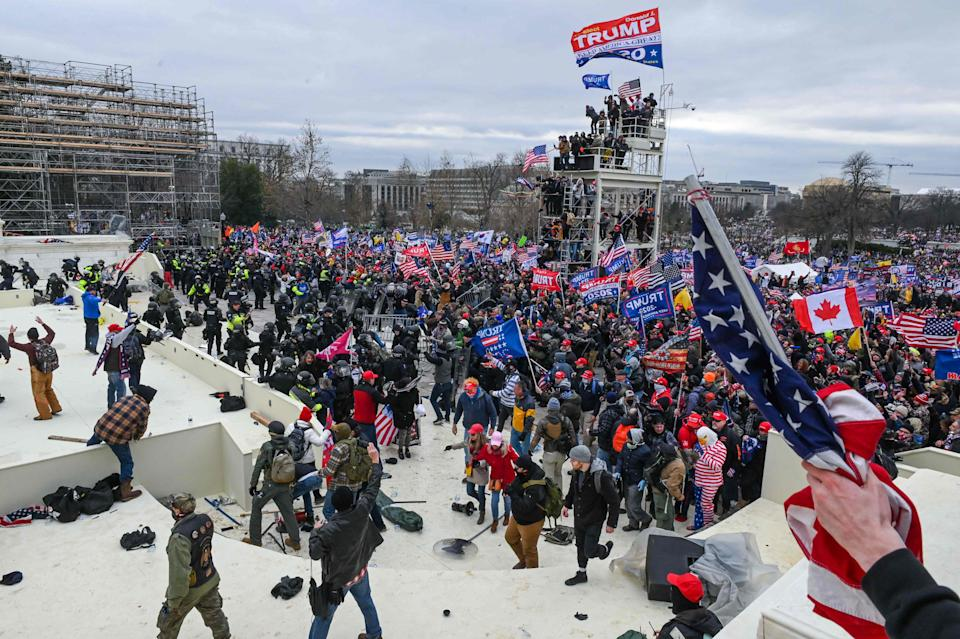 The inauguration will take place in front of the US Capitol, where protesters clashed with policeAFP via Getty Images