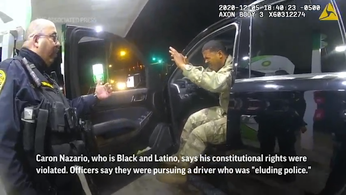 A Black and Latino U.S. Army lieutenant sued two Virginia police officers who drew their guns and pepper-sprayed him during a traffic stop.