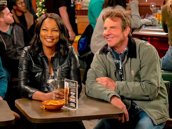 Garcelle Beauvais and Dennis Quaid costarred in Merry Happy Whatever Netflix Adam Rose