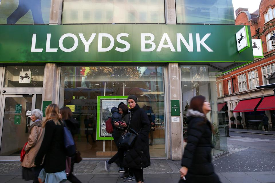 People walking past Lloyds Bank in London's West End. Photo: Dinendra Haria/SOPA Images/Sipa USA