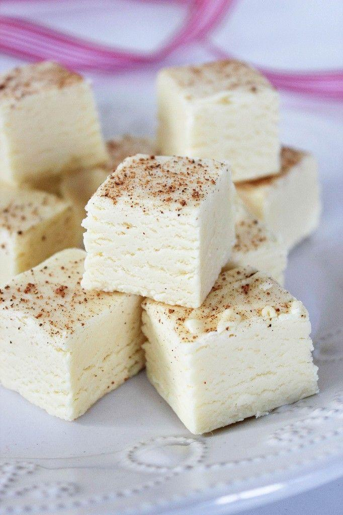 """<p>Gift your neighbors with a bag of sweet eggnog fudge sprinkled with nutmeg. </p><p><strong>Get the recipe at <a href=""""http://www.bakingbeauty.net/eggnog-fudge/"""" rel=""""nofollow noopener"""" target=""""_blank"""" data-ylk=""""slk:Baking Beauty"""" class=""""link rapid-noclick-resp"""">Baking Beauty</a>.</strong></p>"""