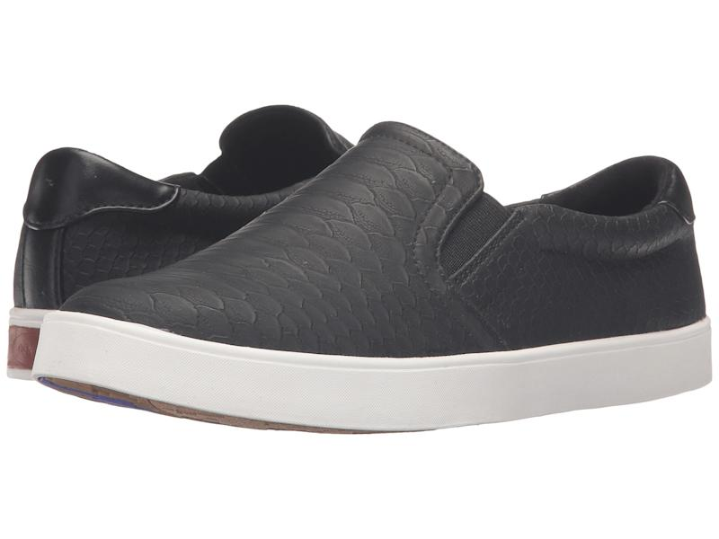 Dr. Scholl's Madison Sneakers in Black Python. (Photo: Zappos)