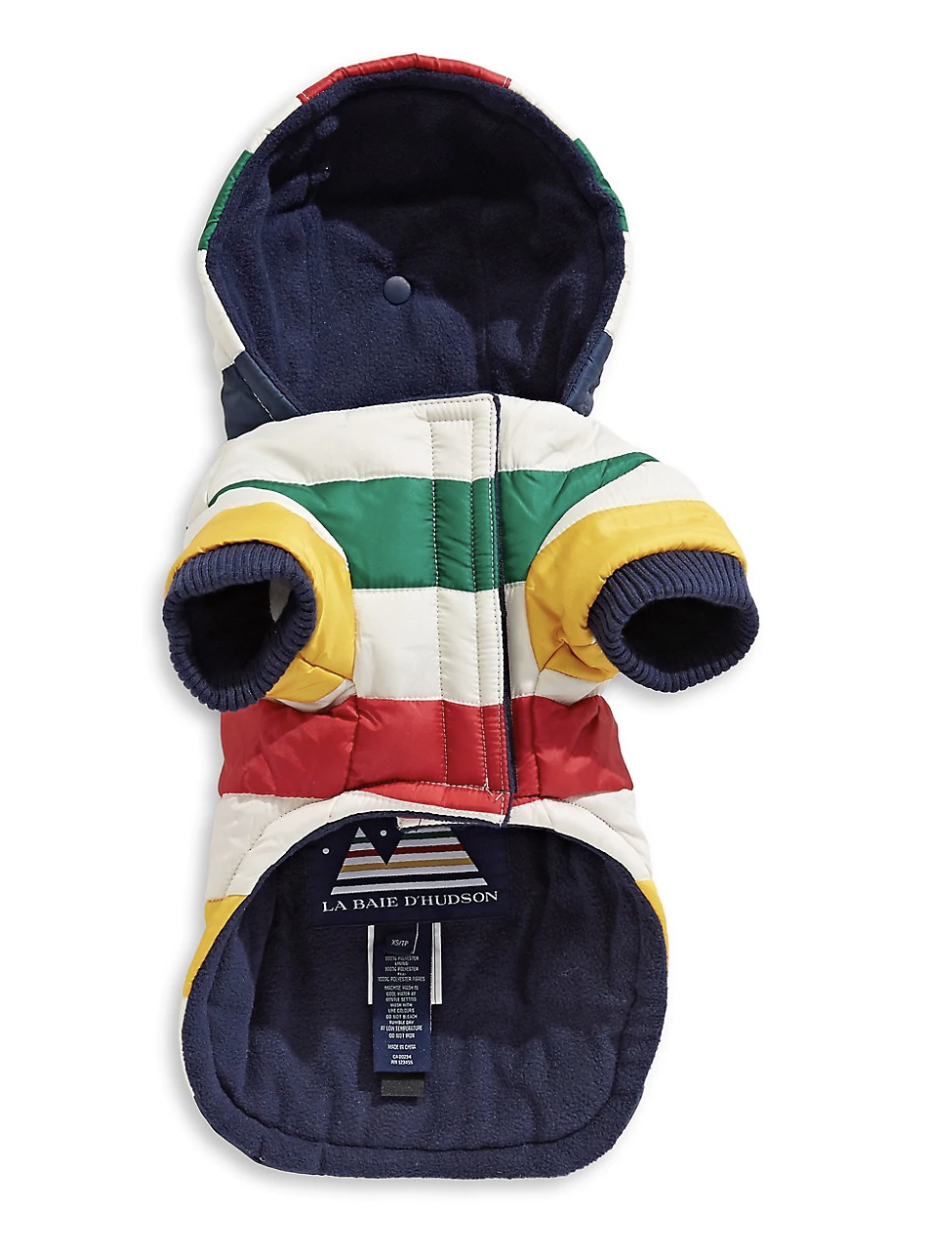 Multistripe Down Dog Coat - Available at Hudson's Bay Company.