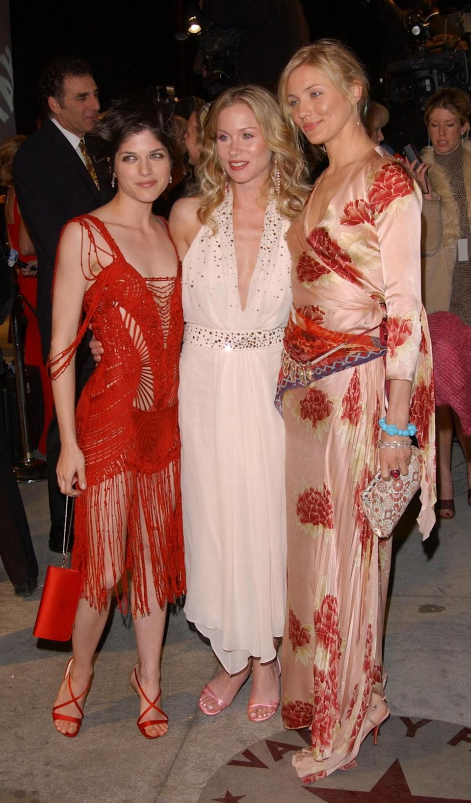 <p>Blair's 2002 dress seems to have unravelled, and poor Christina Applegate for being sandwiched between these two. <em>[Photo: Sebastian Artz/Getty]</em> </p>