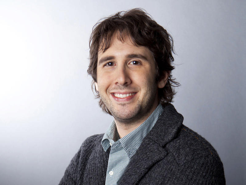 "In this Jan. 3, 2013 photo, American singer Josh Groban poses for a portrait in New York. Groban is releasing his sixth album, ""All That Echoes,"" Tuesday, which was produced by Rob Cavallo, who is best known for producing for Green Day. (Photo by Amy Sussman/Invision/AP)"