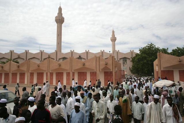 <b>N'DJAMENA, CHAD:</b> The Central Mosque is a dominating feature of N'Djamena, the capital and largest city of the central African nation of Chad.