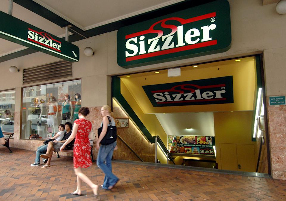 The entrance to a Sizzler restaurant in Brisbane's CBD