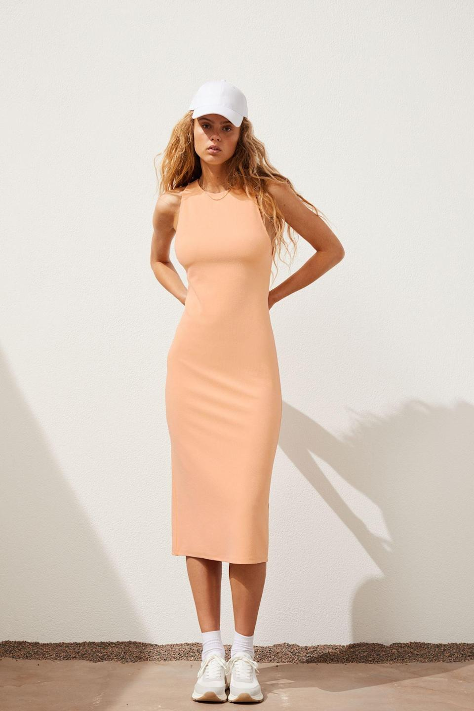 <p>Running errands? Pair this <span>Sleeveless Dress</span> ($36, originally $40) with a baseball cap and chunky dad sneakers. Going to brunch? Replace the sneakers with some kitten heels, and the hat with a polished headband, and you'll be good to go.</p>