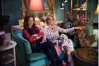 """<p>If there is any uplifting TV show that properly demonstrates why it's important to never give up, it's Netflix's <em>Unbreakable Kimmy Schmidt</em>. The uber-positive Kimmy Schmidt (Ellie Kemper) always sees the glass half full, no matter what obstacles are thrown her way. After she's rescued from a cult, she starts over in New York City, where she forges an unlikely friendship with street performer Tituss (Titus Burgess), and her employer, Jacqueline Voorhees (Jane Krakowski). Together, the trio conquer life's challenges one funny step at a time. Add this one to your must-watch list when you need a reminder that things will be okay. </p><p><a class=""""link rapid-noclick-resp"""" href=""""https://www.netflix.com/title/80025384"""" rel=""""nofollow noopener"""" target=""""_blank"""" data-ylk=""""slk:Watch Now"""">Watch Now</a></p>"""