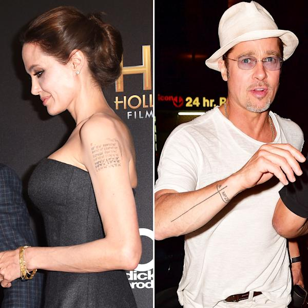 Before their divorce, Angelina Jolie and Brad Pitt got tattoos for each other — revisit the permanent ink