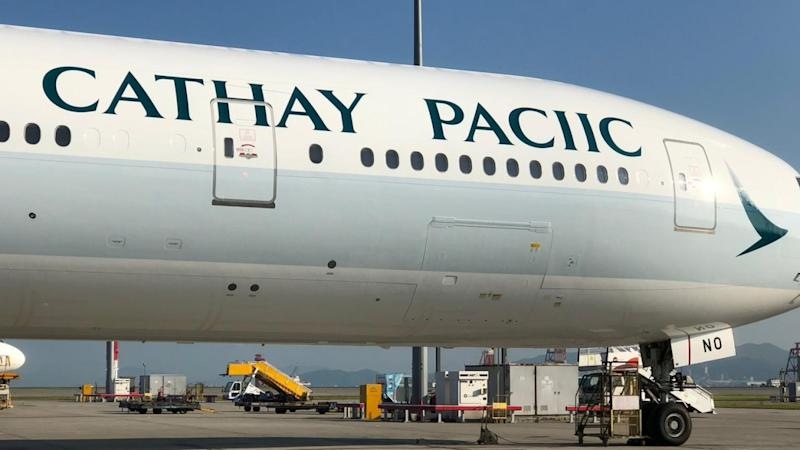 Cathay Pacific aeroplane gets new paint job, complete with massive spelling mistake