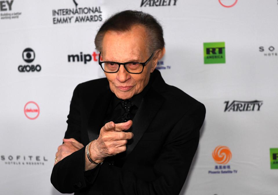 <p>Larry King at the the 45th International Emmy awards gala in New York in 2017</p> (AFP via Getty Images)