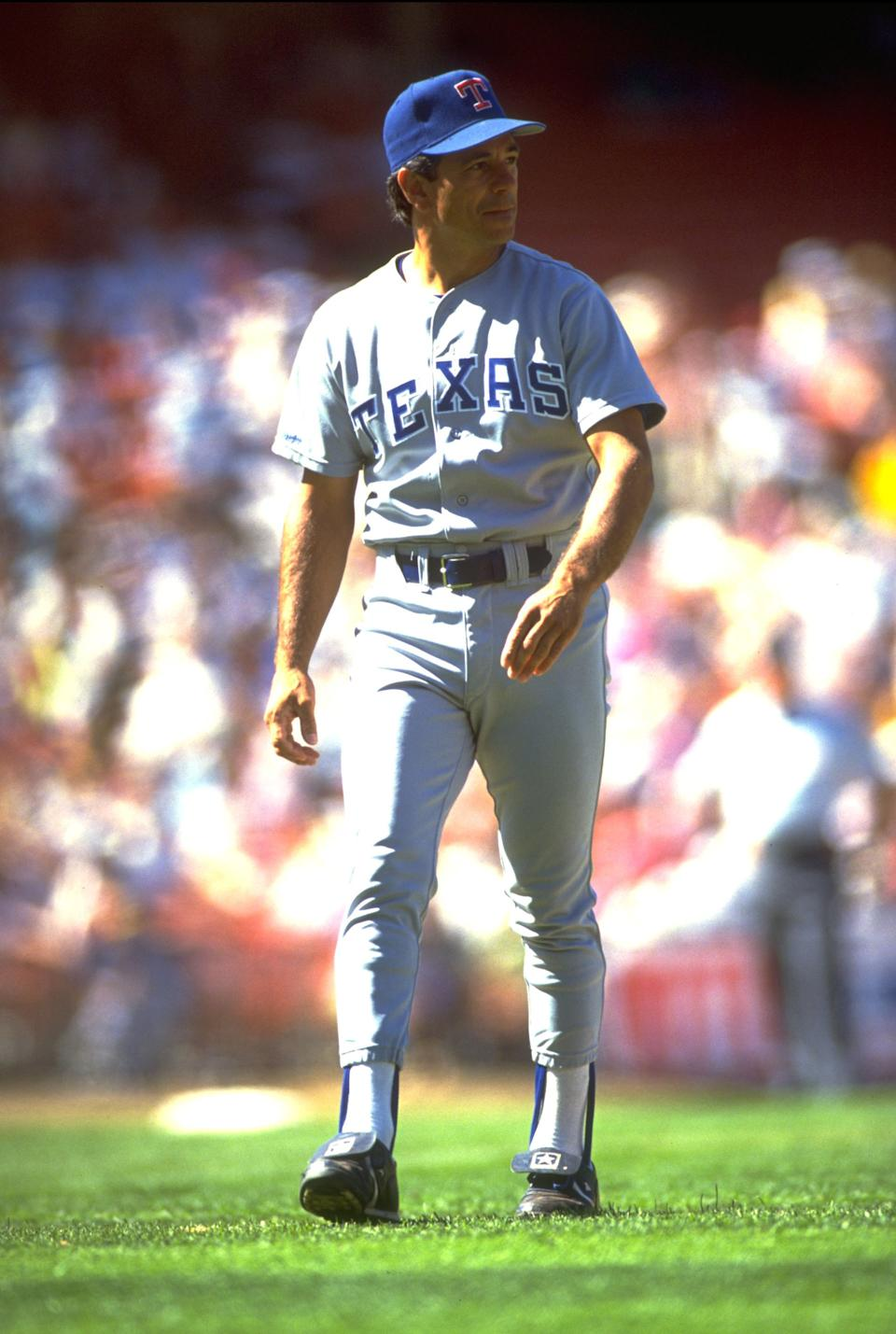 Texas Ranger manager Bobby Valentine durning a Rangers vs. Oakland Athletics game at the Oakland Coliseum, 1990.
