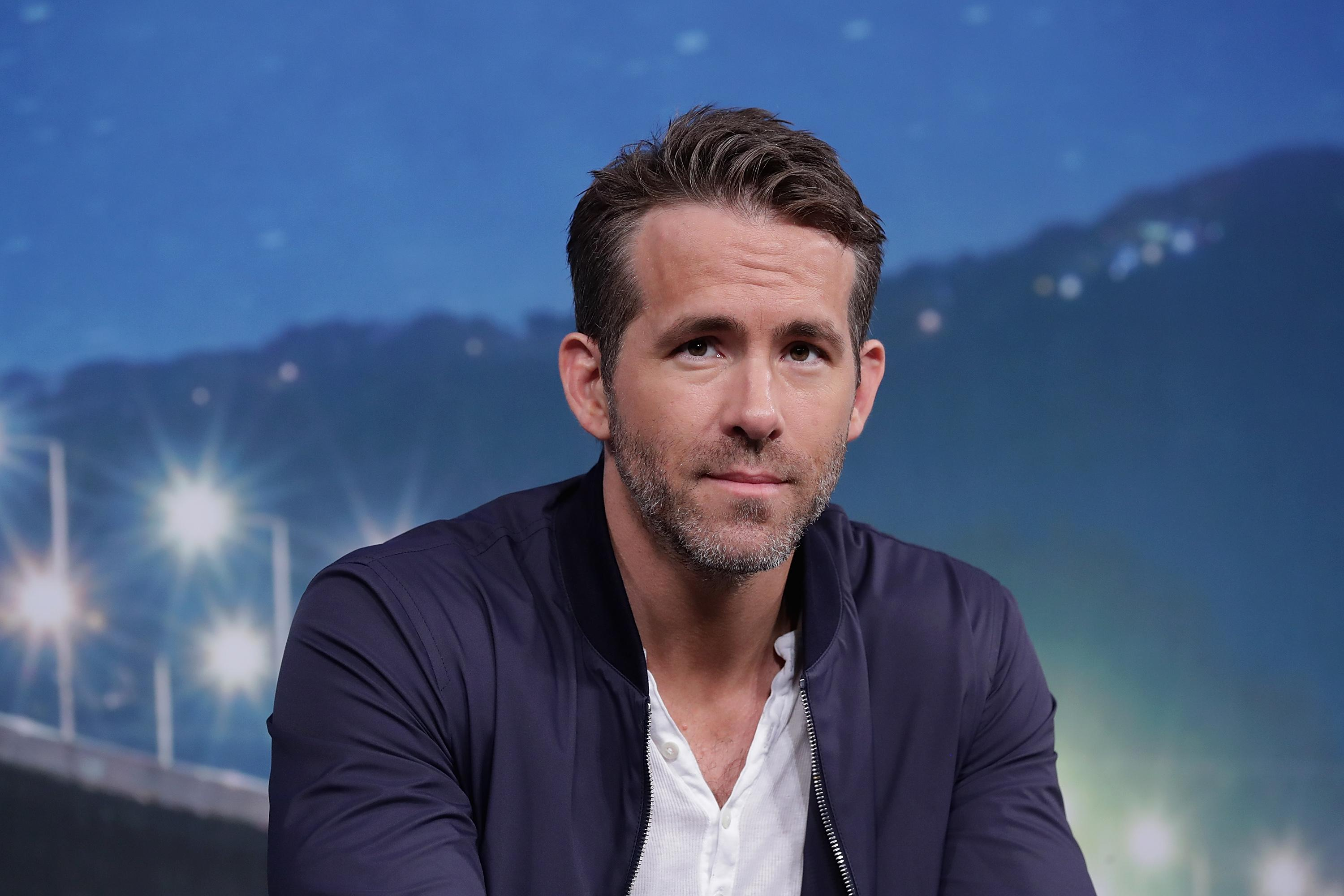 Ryan Reynolds attends the press conference for a premiere of Deadpool 2 on May 2, 2018, in Seoul, South Korea
