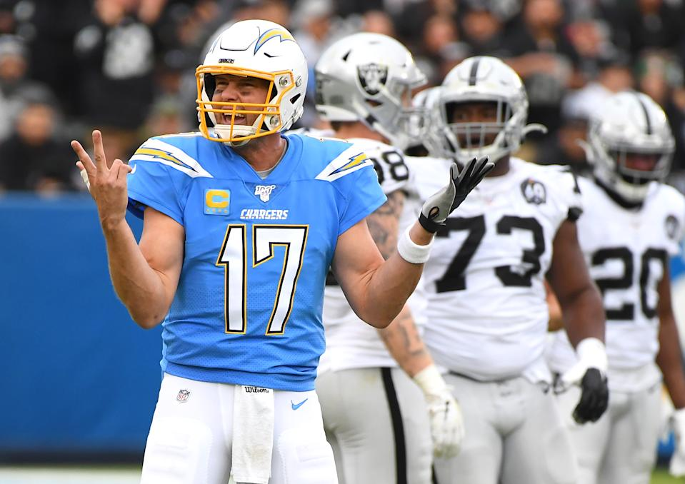 Philip Rivers raised a practical question about coronavirus and the Super Bowl, but the answer now might not be the answer by then. (Photo by Jayne Kamin-Oncea/Getty Images)