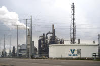 The Valero Port Arthur Refinery is shown Monday, March 23, 2020, in Port Arthur, Texas. The Texas Gulf Coast is the United States' petrochemical corridor, with four of the country's 10 biggest oil and gas refineries and thousands of chemical facilities. (AP Photo/David J. Phillip)
