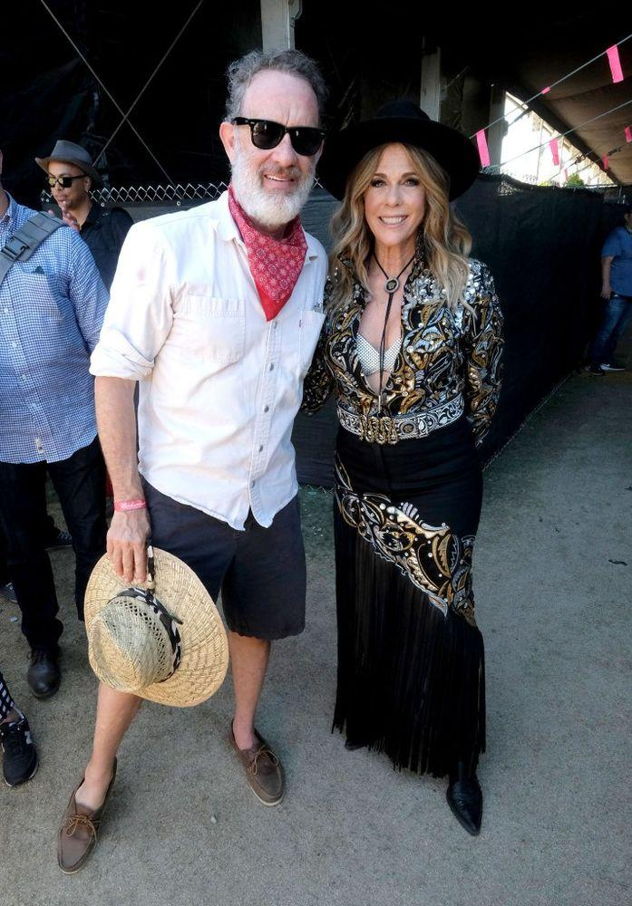 Tom Hanks and Rita Wilson at Stagecoach | Frazer Harrison/Getty Images