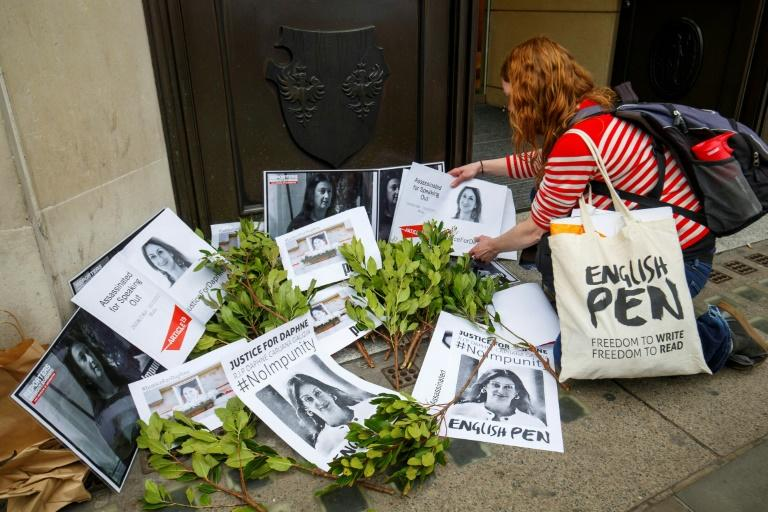 The blogger, 53, was assassinated by a car bomb on October 16 just down the road from her residence in Malta