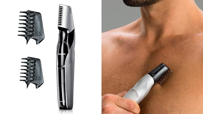 Can't make it to the barber shop? The Panasonic electric body groomer and trimmer can help.
