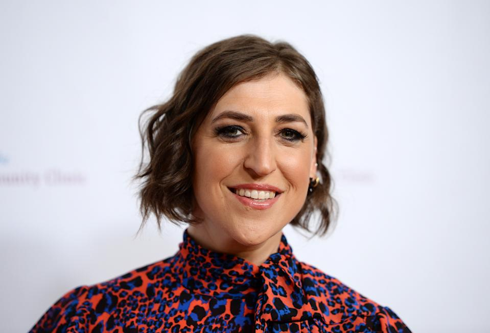 Actress Mayim Bialik says she doesn't feely guilty about playing it safe with flu season and COVID-19.