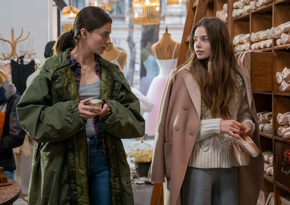 """Kate (Diana Silvers, left) and Marine (Kristine Froseth) go shopping for ballet shoes in """"Birds of Paradise."""""""