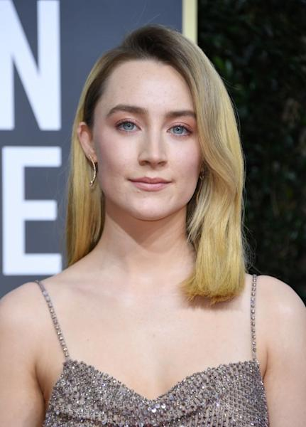 US-Irish actress Saoirse Ronan at the 77th annual Golden Globe Awards on January 5, 2020, at The Beverly Hilton hotel in Beverly Hills, California
