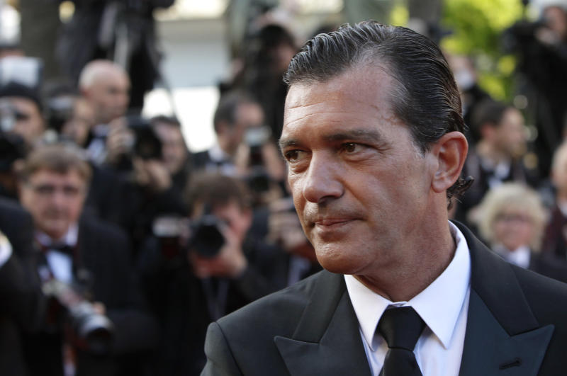 "FILE- in this May 24, 2012 file photo, Actor Antonio Banderas arrives for the screening of The Paperboy at the 65th international film festival, in Cannes, southern France. Banderas will play Mario Sepulveda, who in 2010 became the public face of 33 Chilean miners trapped deep underground for 69 days and the charismatic miner known as ""Super Mario"". (AP Photo/Francois Mori, File)"