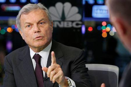 Sir Martin Sorrell, Chairman and Chief Executive Officer of advertising company WPP, speaks during an interview with CNBC at the New York Stock Exchange (NYSE) in New York, U.S., December 13, 2017. REUTERS/Brendan McDermid/File Photo