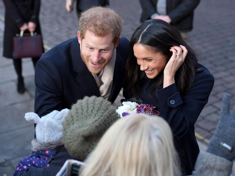 Harry and Meghan looked so loved up. Photo: Getty