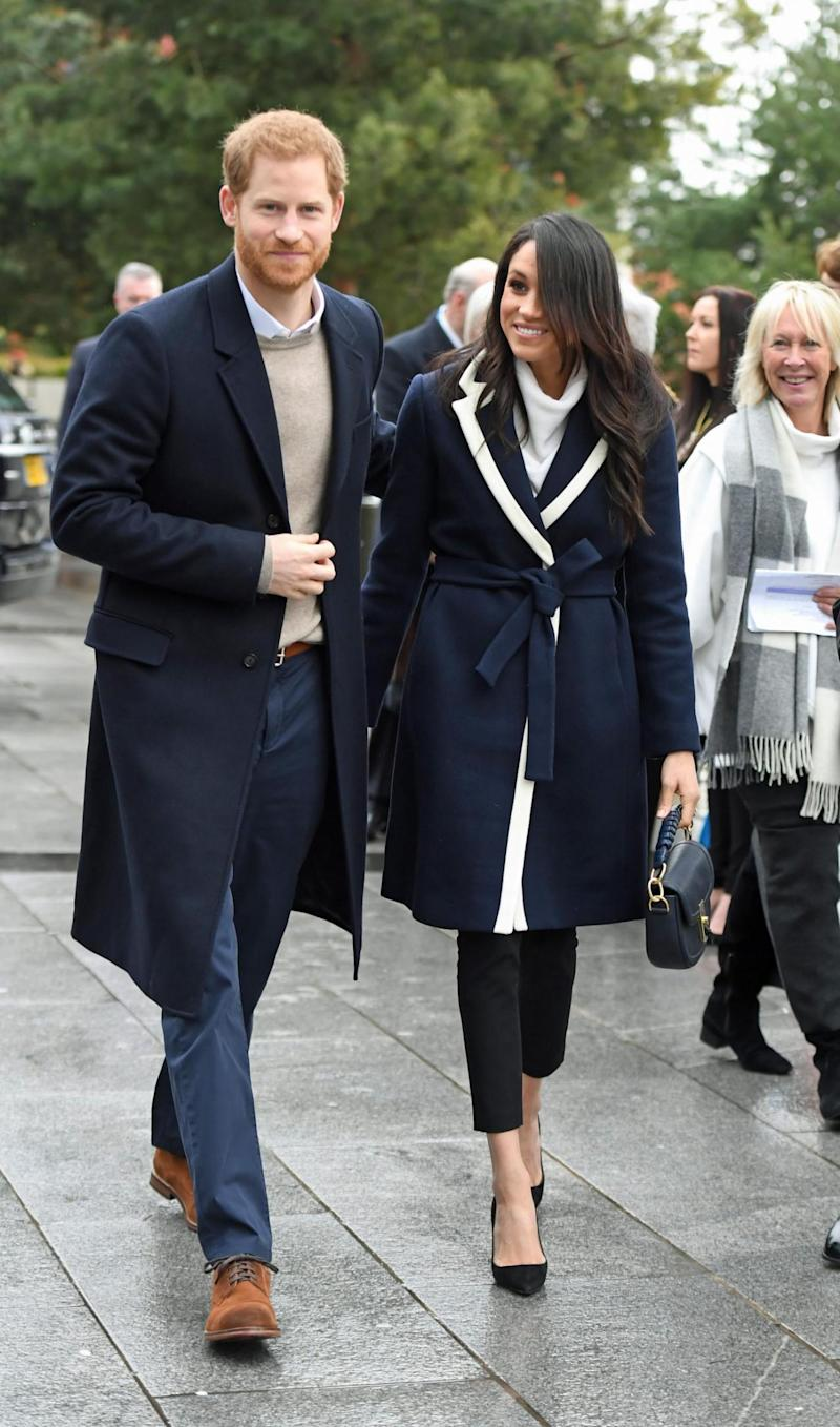 Prince Harry and Meghan Markle during their visit to Birmingham (PA)