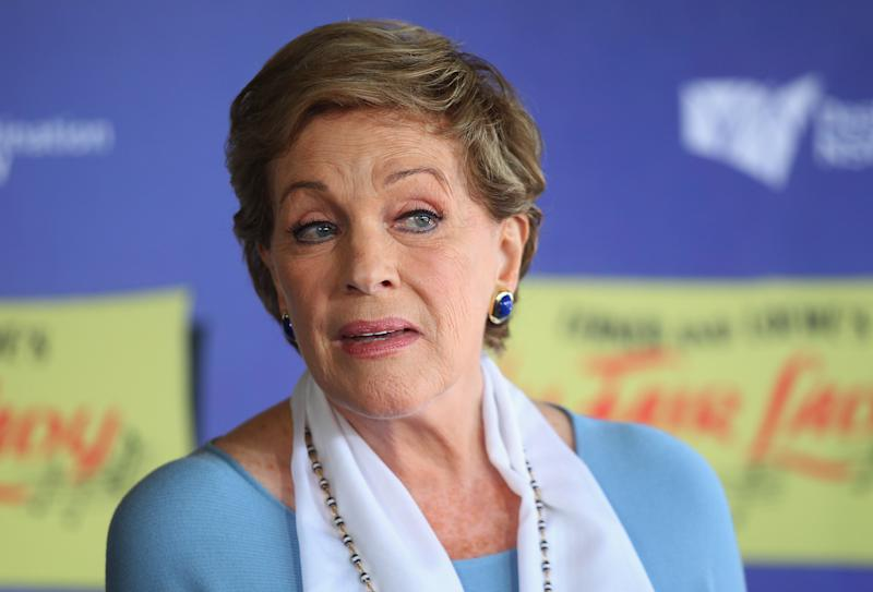 SYDNEY, AUSTRALIA - NOVEMBER 10: Dame Julie Andrews speaks during a mdeia call for the Australian production of My Fair Lady at Sydney Opera House on November 10, 2015 in Sydney, Australia. (Photo by Don Arnold/WireImage)