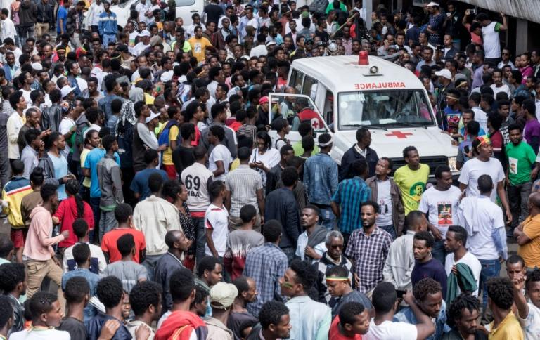 The blast occurred in a packed public square as Ethiopia's new Prime Minister Abiy Ahmed was wrapping up a speech