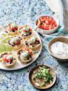 """<p><strong>Recipe: <a href=""""https://www.southernliving.com/recipes/mini-black-bean-cheese-enchiladas-recipe"""" rel=""""nofollow noopener"""" target=""""_blank"""" data-ylk=""""slk:Mini Black Bean and Cheese Enchiladas"""" class=""""link rapid-noclick-resp"""">Mini Black Bean and Cheese Enchiladas</a></strong></p> <p>No rolling is necessary to create this handheld version of classic enchiladas. <br><strong><br></strong></p>"""