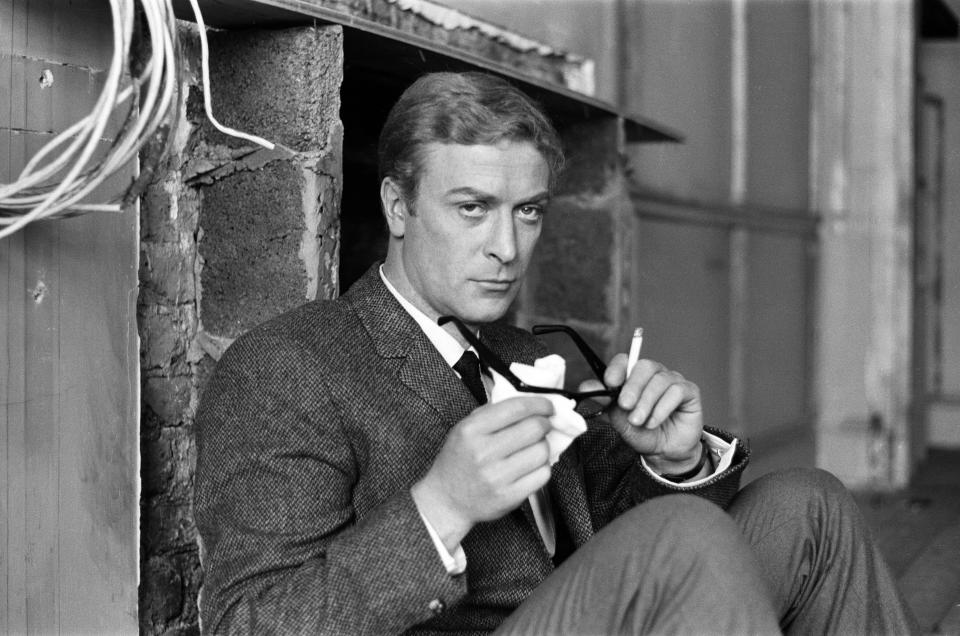 Michael Caine on the set of 'The Ipcress File', 21st September 1964. (Photo by Ron Burton/Mirrorpix/Getty Images)