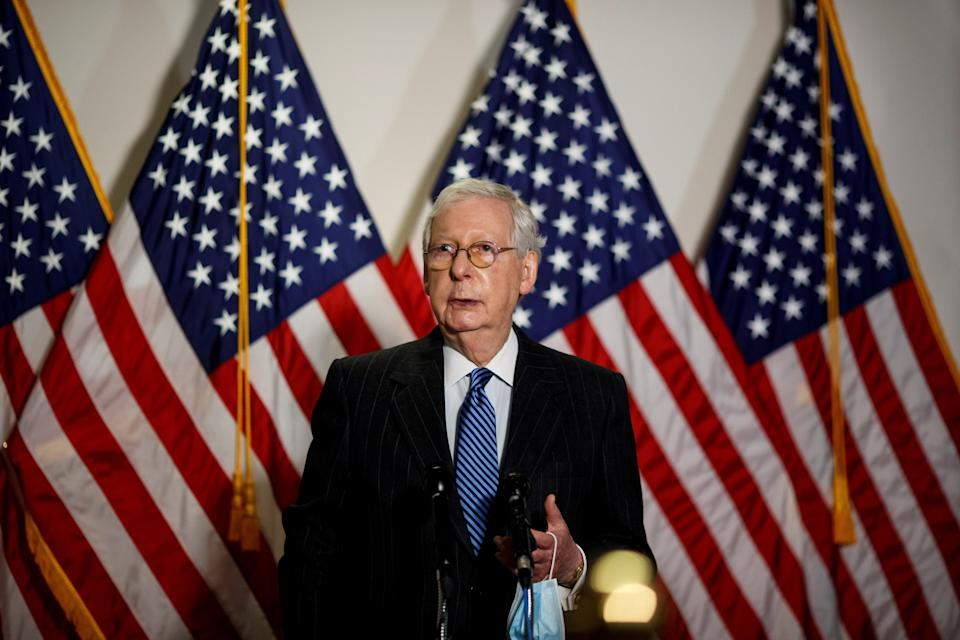 Heavy spending from a super PAC controlled by allies of Senate Majority Leader Mitch McConnell (R-Ky.) could help the GOP maintain its Senate majority. (Photo: Xinhua News Agency via Getty Images)