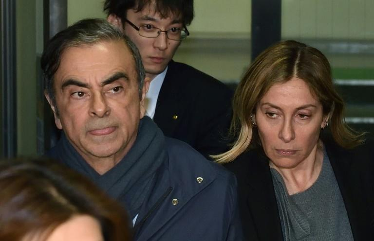 Carole Ghosn said fleeing was the only possible choice for her husband as his trial was being indefinitely postponed (AFP Photo/Kazuhiro NOGI)