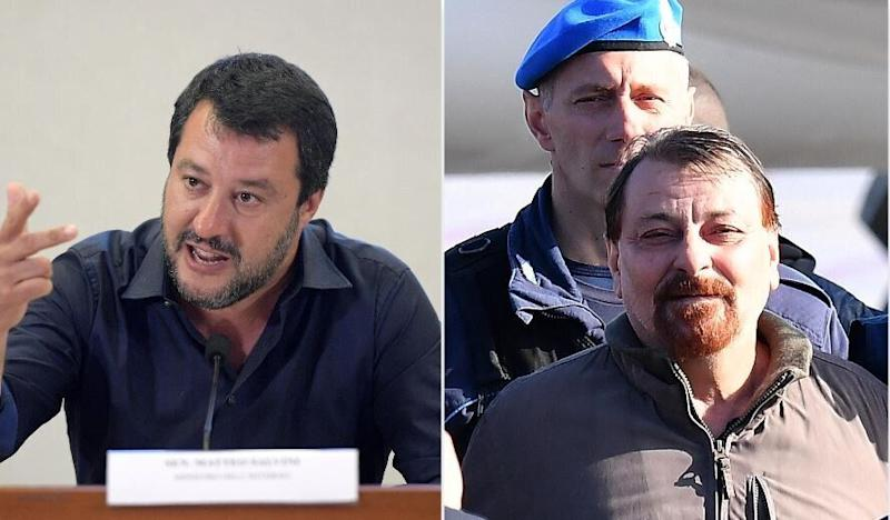 Matteo Salvini - Cesare Battisti (Photo: ANSA foto)