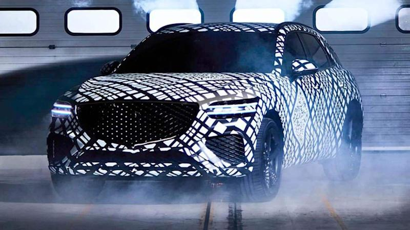Ahead of its global debut, Genesis GV70 SUV teased