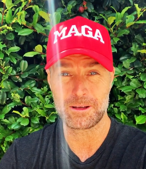 Pete wore a 'MAGA' cap in a recent Instagram video. Photo: Instagram/chefpeteevans.