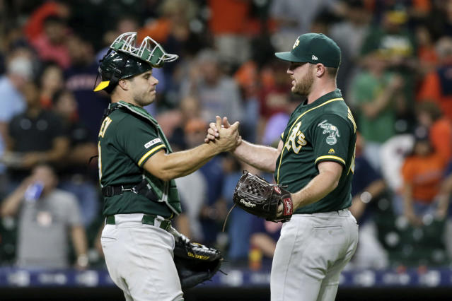 The Oakland Athletics are proving they'll be a difficult team to deal with down the stretch. (Photo by Tim Warner/Getty Images)