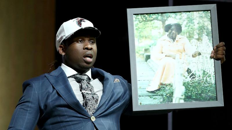 Falcons' Takkarist McKinley rips Clay Travis for mocking photo he brought to NFL Draft