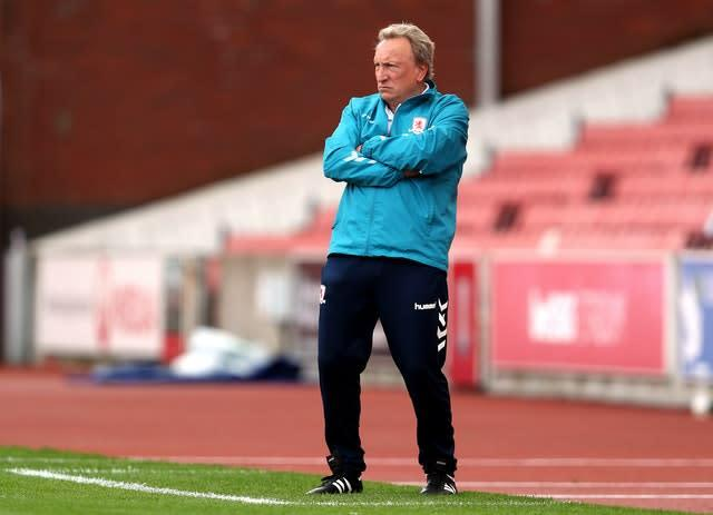 Neil Warnock is back in management at Boro (David Davies/PA)