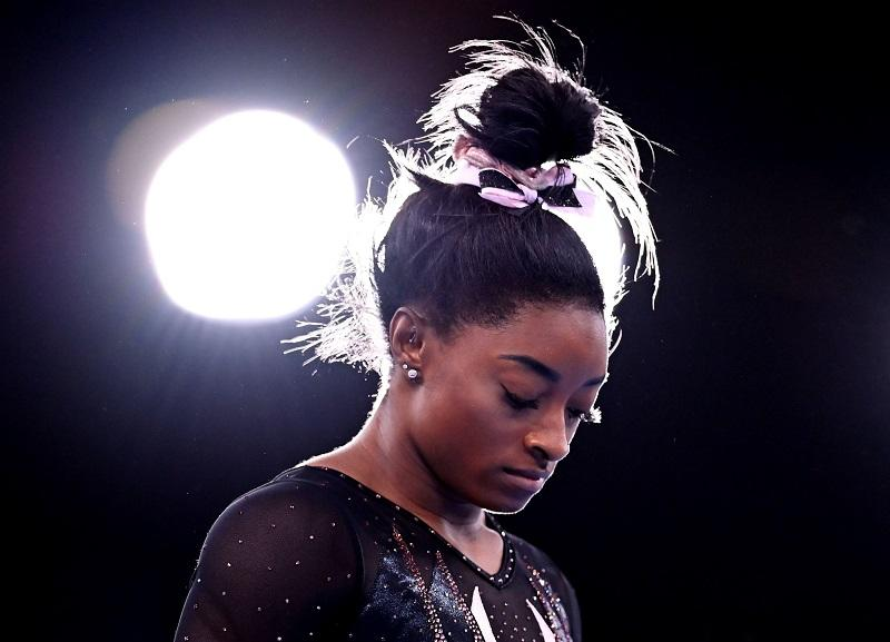 Had Biles sprained an ankle or pulled a muscle, would she be subject to such vitriol? Image credits: Reuters/Dylan Martinez