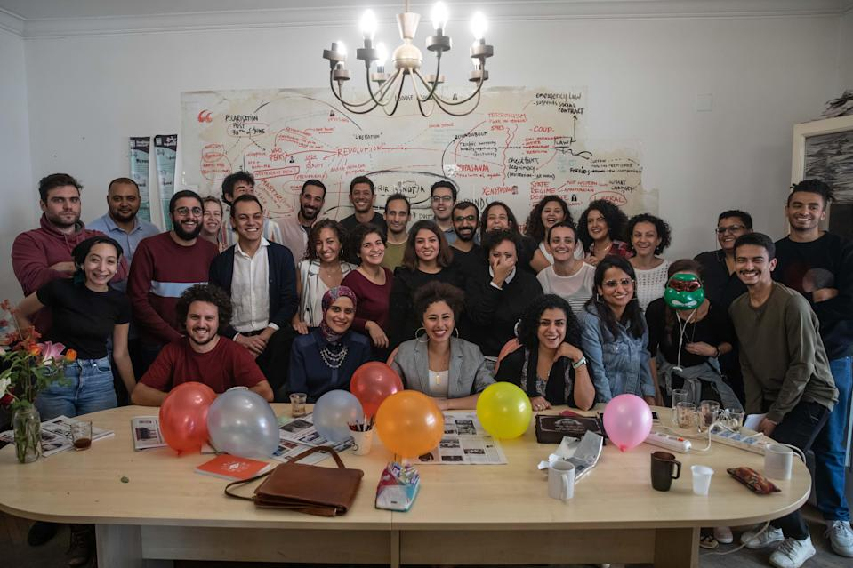 The team at Mada Masr that have vowed to keep reporting despite the crackdownRoger Anis / Lina Attalah