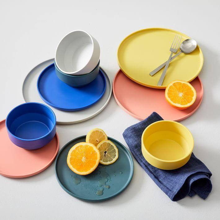 """<p><strong>West Elm </strong></p><p>westelm.com</p><p><a href=""""https://go.redirectingat.com?id=74968X1596630&url=https%3A%2F%2Fwww.westelm.com%2Fproducts%2Fmodern-melamine-dinnerware-e2405&sref=https%3A%2F%2Fwww.bestproducts.com%2Fhome%2Fg33012977%2Fwest-elm-summer-home-decor-sale%2F"""" rel=""""nofollow noopener"""" target=""""_blank"""" data-ylk=""""slk:Shop Now"""" class=""""link rapid-noclick-resp"""">Shop Now</a></p><p><del>$86</del><strong><br>$64.50 </strong></p><p>Craving a dinner al fresco? Pick up some melamine dinnerware. This material is more durable than paper plates, but not as fancy at your favorite china, so you can avoid any messy cleanup should they drop. </p>"""