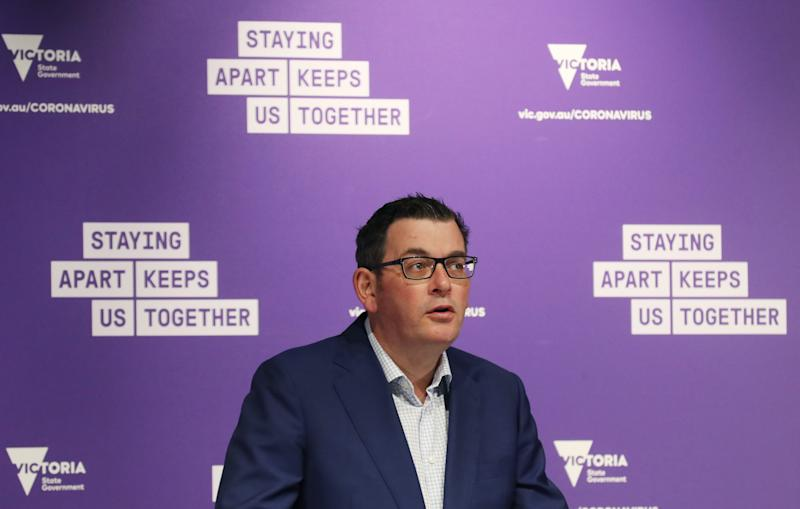 Victorian Premier Daniel Andrews announced the complete lockdown of nine public housing towers on Saturday. Source: AAP
