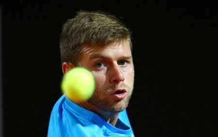 Tennis - ATP World Tour Masters 1000 - Italian Open - Foro Italico, Rome, Italy - May 15, 2018 Ryan Harrison of the U.S. in action during his second round match against Croatia's Marin Cilic REUTERS/Tony Gentile
