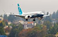 FILE PHOTO: FAA Chief Steve Dickson returns in a Boeing 737 MAX aircraft in Seattle